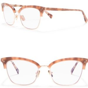 DIFF rose cateye blue light glasses 👓